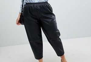 Curve Leather Look Pants