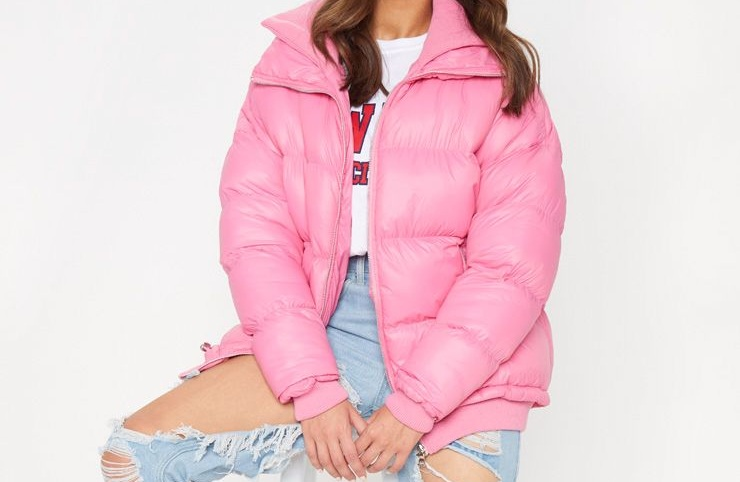 Pink Oversized Puffer