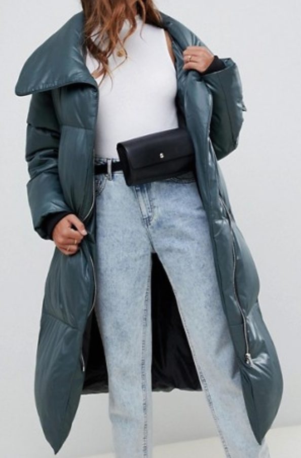 Oversized Wrap Front Puffer