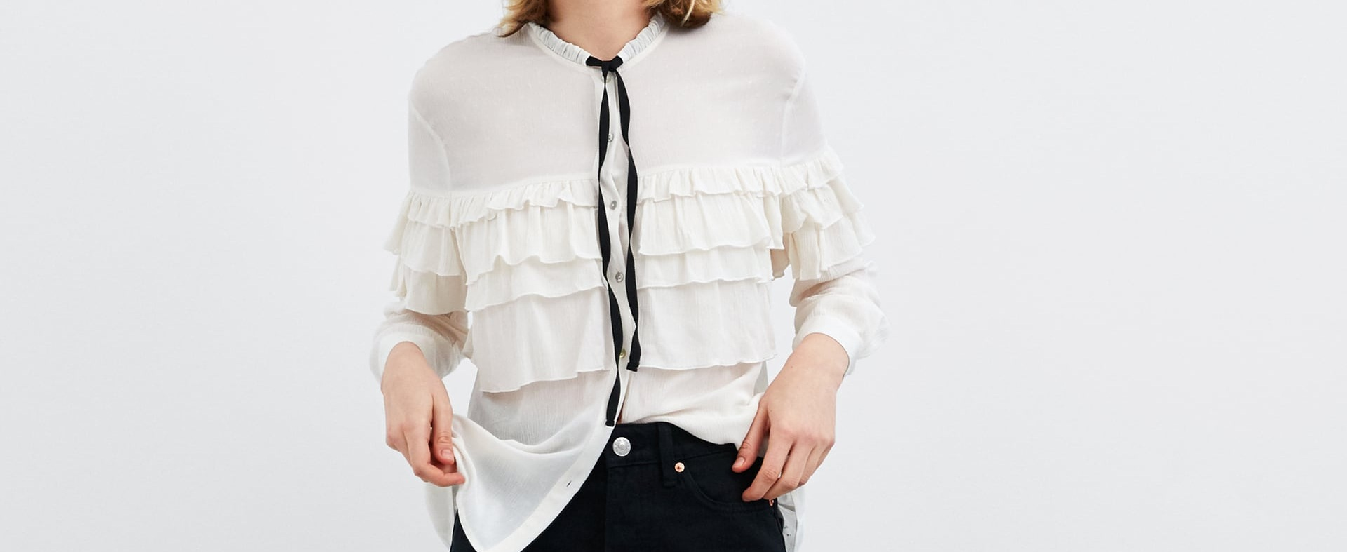 Ruffle Shirt with Bow