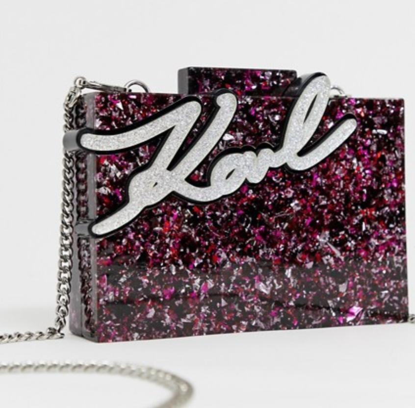 Glitter Shine Box Bag