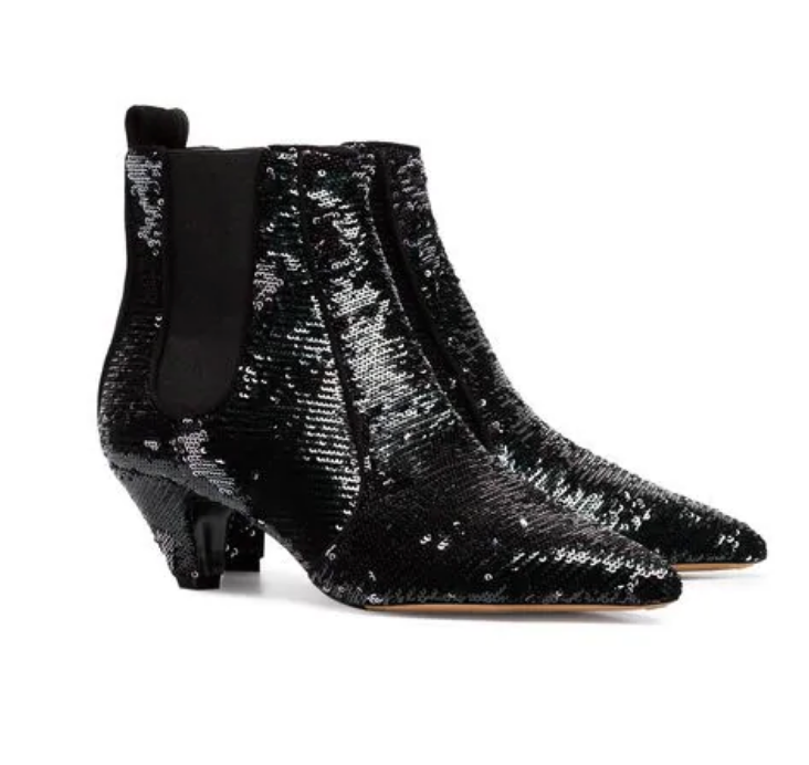 Sequin Anke Boots