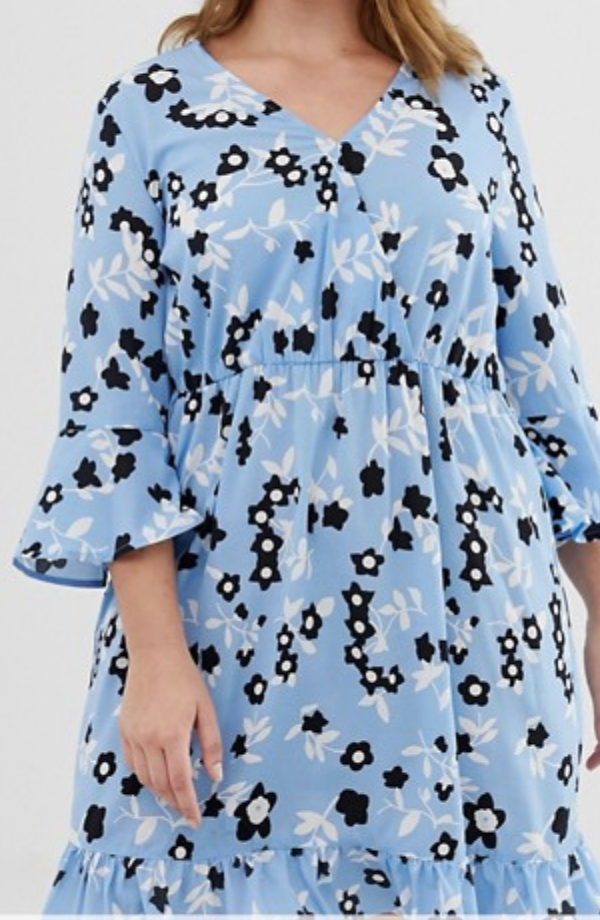 Floral Print Smock Dress