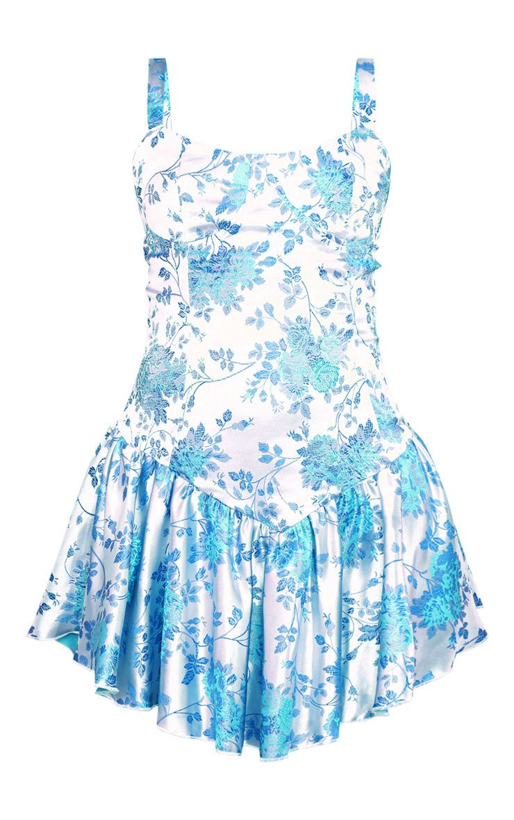 Jacquard Frill Dress