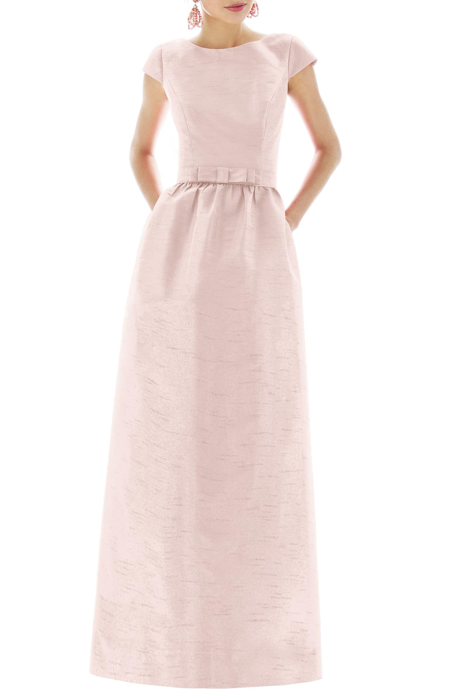 Cap Sleeve Full Length Dress
