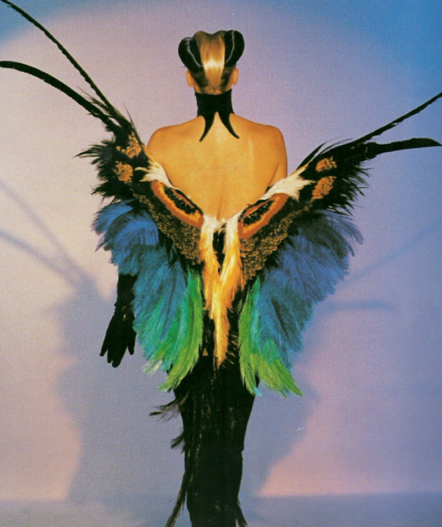 thierry mugler butterfly dress surrealist fashion