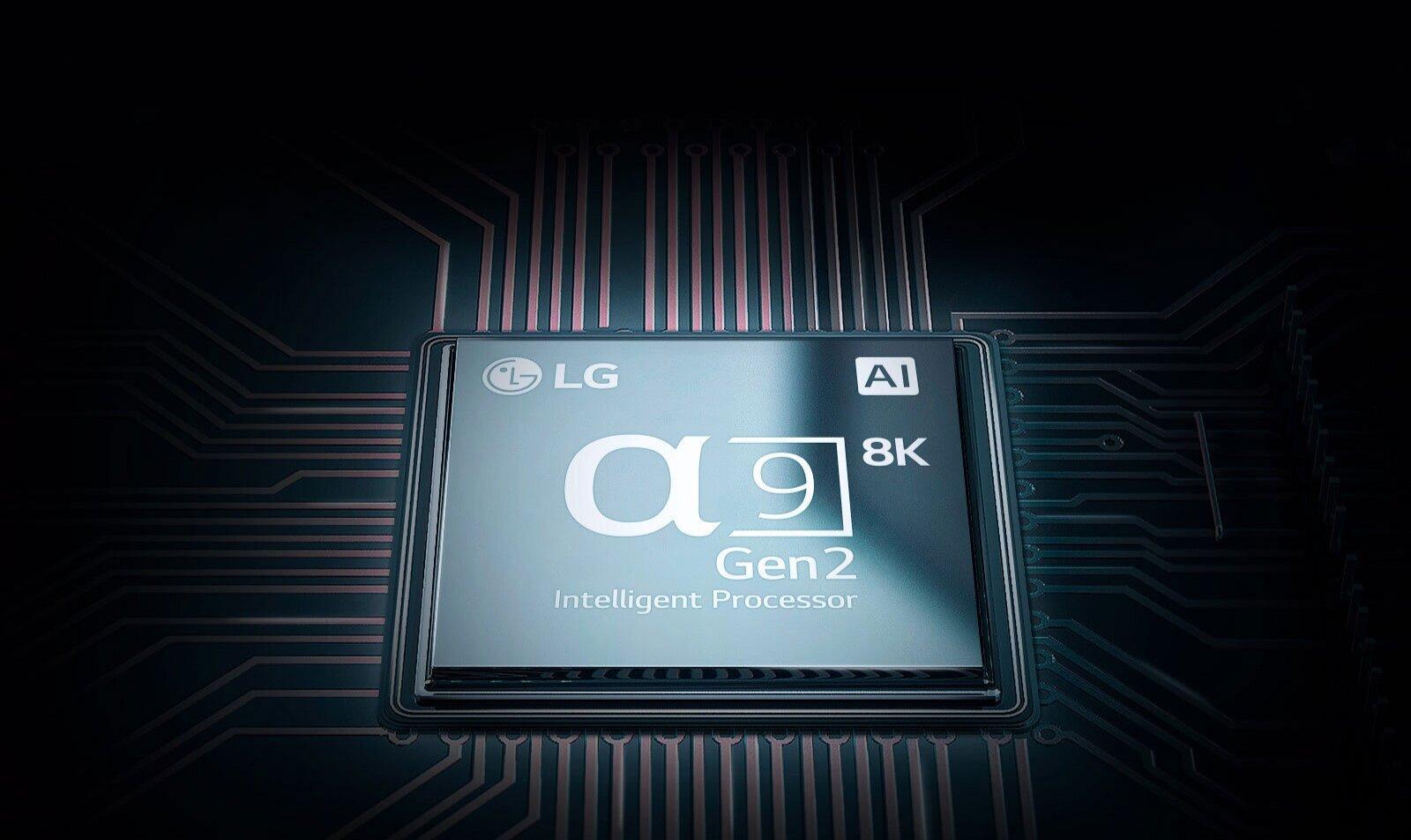 α9 Gen 2 Intelligent Processor 8K - The AI algorithm analyses the image quality of content to optimise the resolution for 8K. Enjoy improved clarity, sharpness, detail, and contrast with everything you watch.