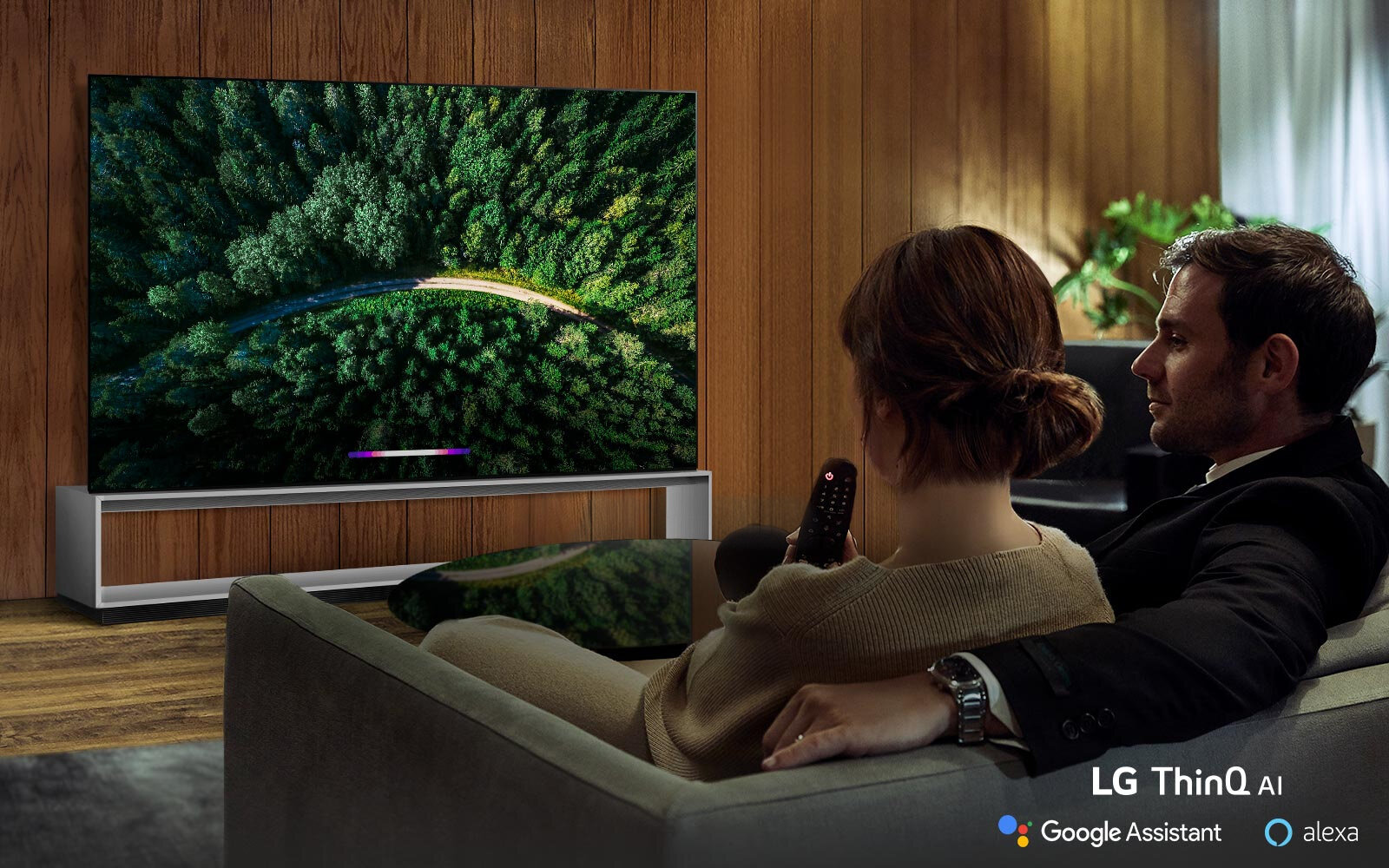 AI SmartLive in wonder with New Intelligence - LG AI TV expands your AI experience with both the Google Assistant and Alexa*. Get answers to questions and control smart home appliances all through the power of your voice.