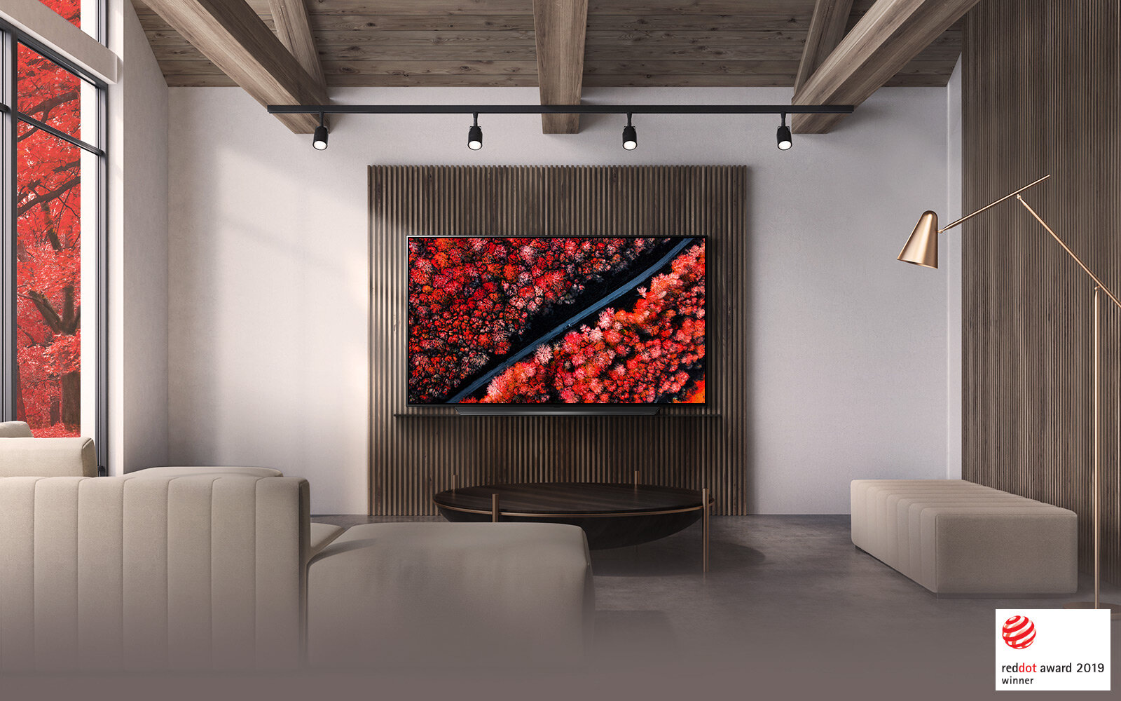 Minimalistic designBlends in to any space - The sophisticated and sleek design of the LG C9 OLED TV seamlessly integrates with your home. LG OLED TV adds a final touch of uniqueness to your carefully curated interior.