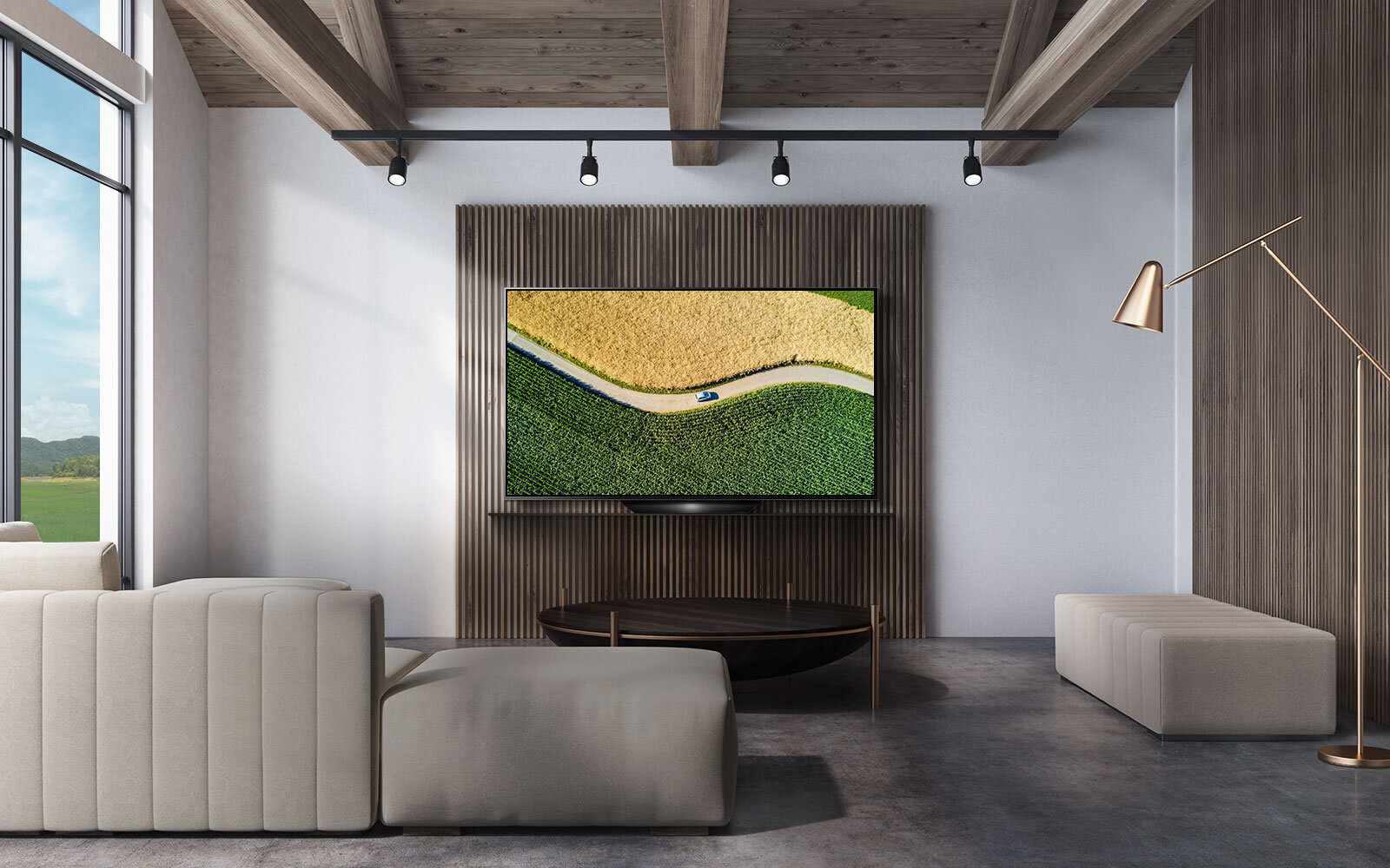 Minimalistic designBlends in to any space - The sophisticated and sleek design of the LG B9 OLED TV seamlessly integrates with your home. LG OLED TV adds a final touch of uniqueness to your carefully curated interior.