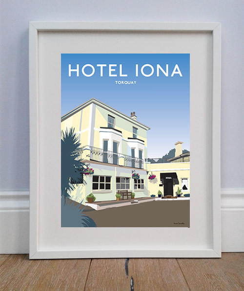 Hotel Iona, Torquay - Private commission. Illustration