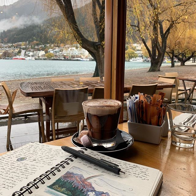 Ideal afternoon work/writing spot...🙌🏼can't believe this journey is just about over! I'll still be sharing some pieces inspired by photos, but wow. I really would recommend NZ to anyone ready for hiking, friendly people, jaw-dropping scenery and adventure 😄✨ * * * * * #squillustrate #squillustration #design #illustration #branding #graphicdesign #designstudio #nashville #tennessee #entrepreneurship #startup #maker #create #portrait #illustratedportrait #illustrator #adobe #travelwriting #travelsketch
