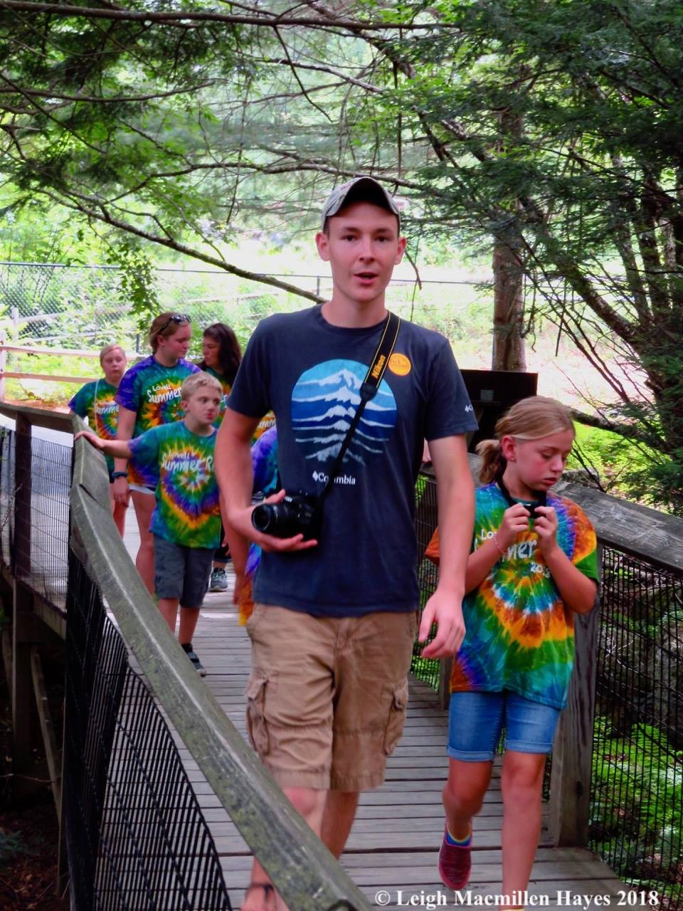 Isaiah on a field trip to the  Squam Lakes Natural Science Center  with the Lovell Rec. kids.