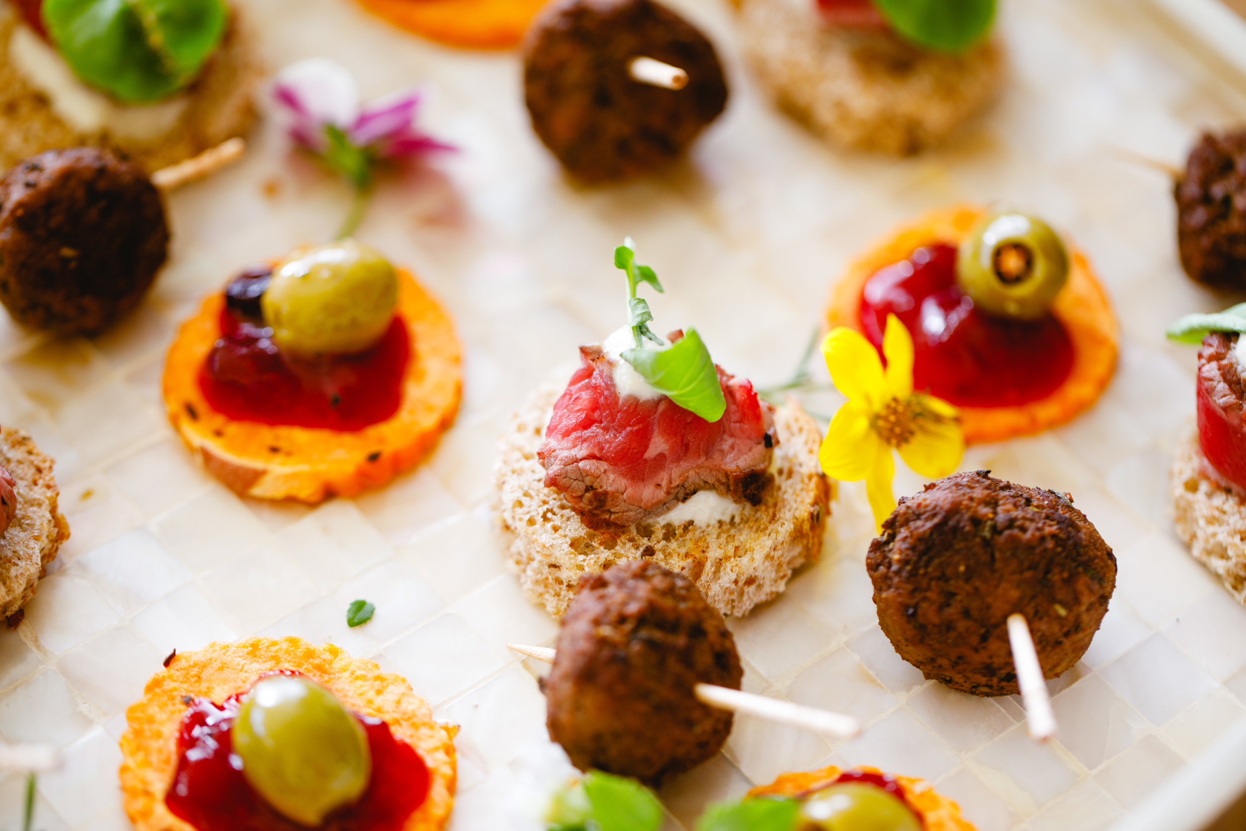Whet your guests appetite with a taste of what's to come. The perfect way to welcome your guests to any event. Our Chefs have dedicated canapé menu's to suit each style of event.