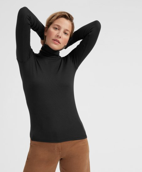 Everlane - The Prima Micro Rib Turtleneck