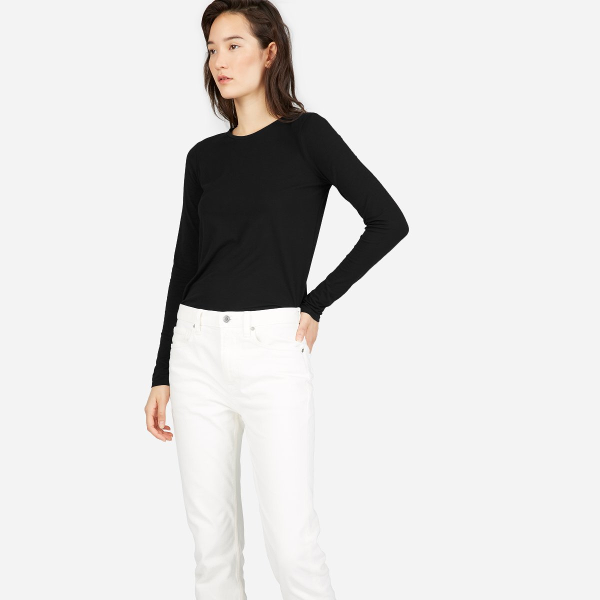 Everlane - The Slim Cotton Long-Sleeve Crew $22