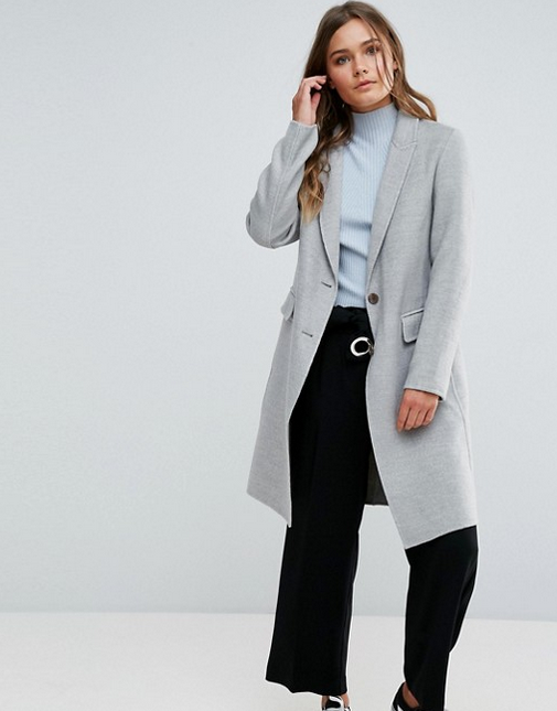 New Look - Gray Tailored Coat (similar) $79.00
