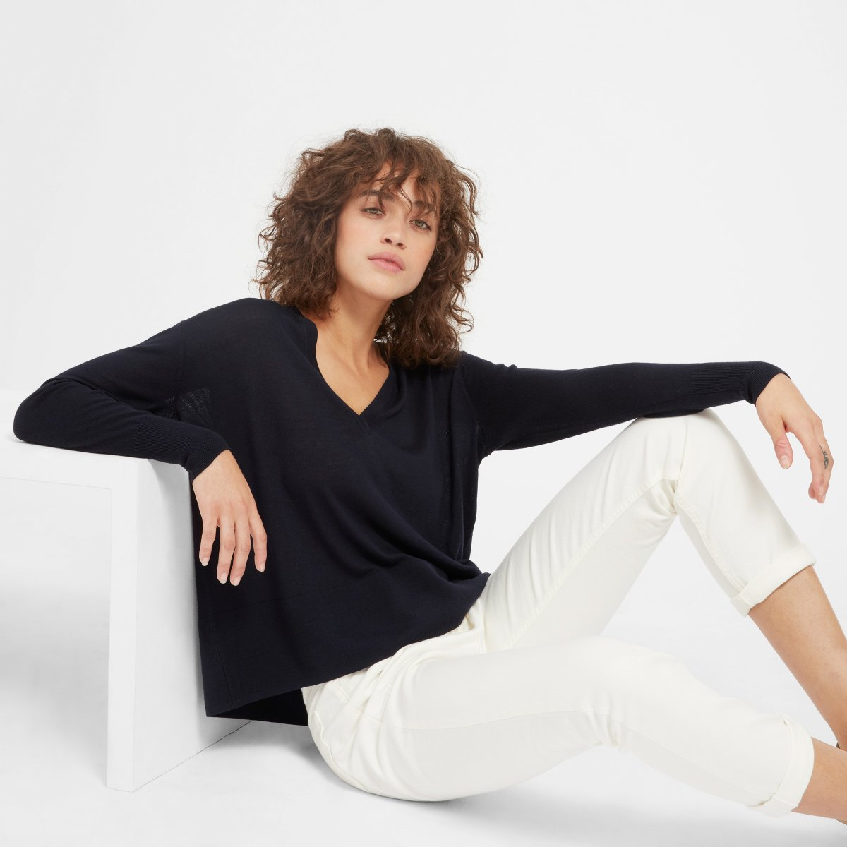 Everlane - The Luxe Wool Square V-Neck $78