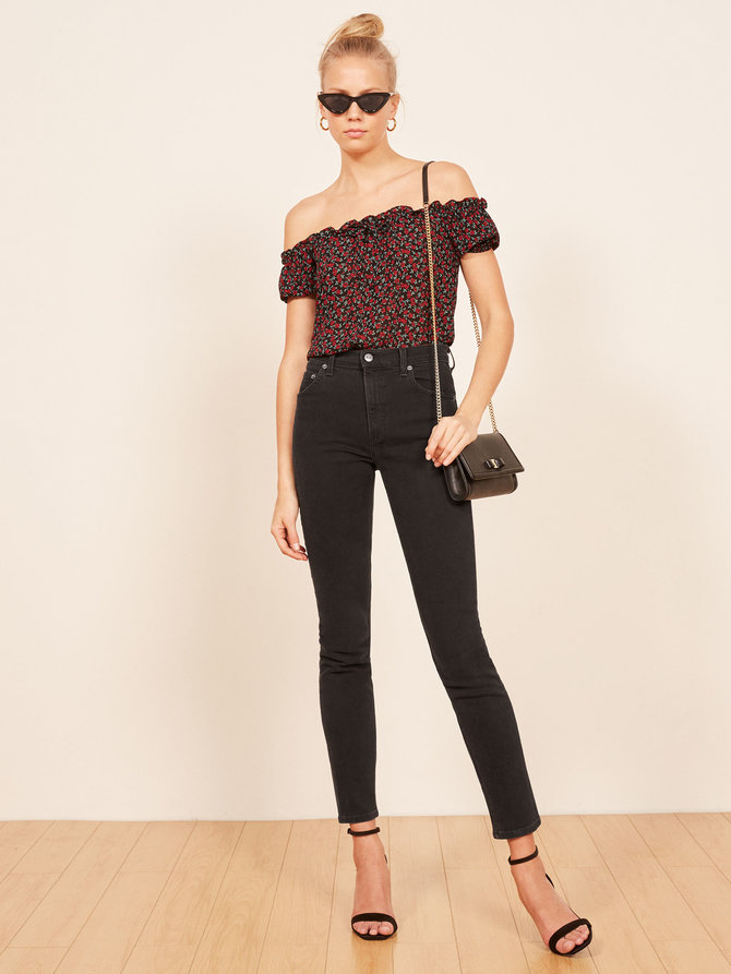 Reformation  - Hepburn High Skinny Jean $98