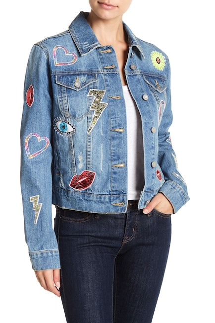 Bagatelle - Embellished Oversized Denim Jacket $79.97