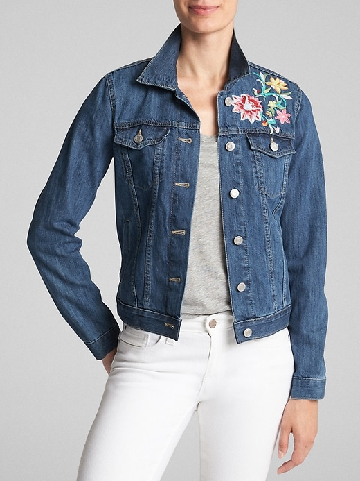 Gap - Embroidered Icon Denim Jacket $36.99