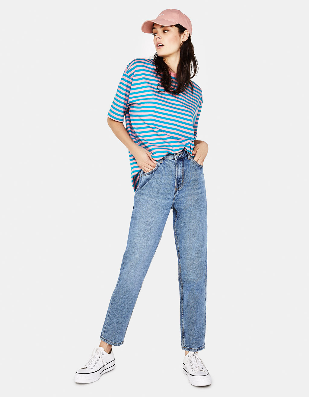 Bershka - High Waist Mom Jeans $29.90