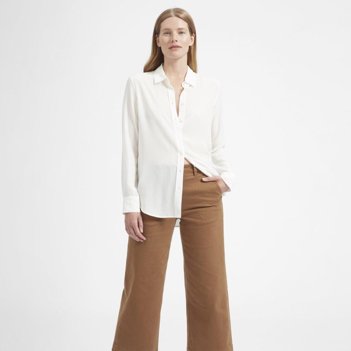 Everlane - The Relaxed Silk Shirt $88 (similar)
