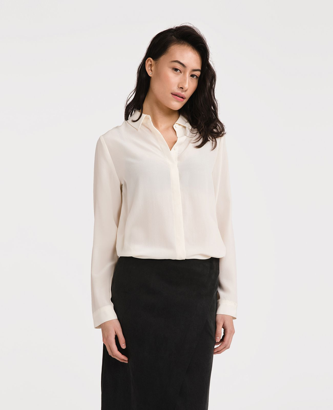 Grana - Chinese Silk Long Sleeve Shirt $89.00