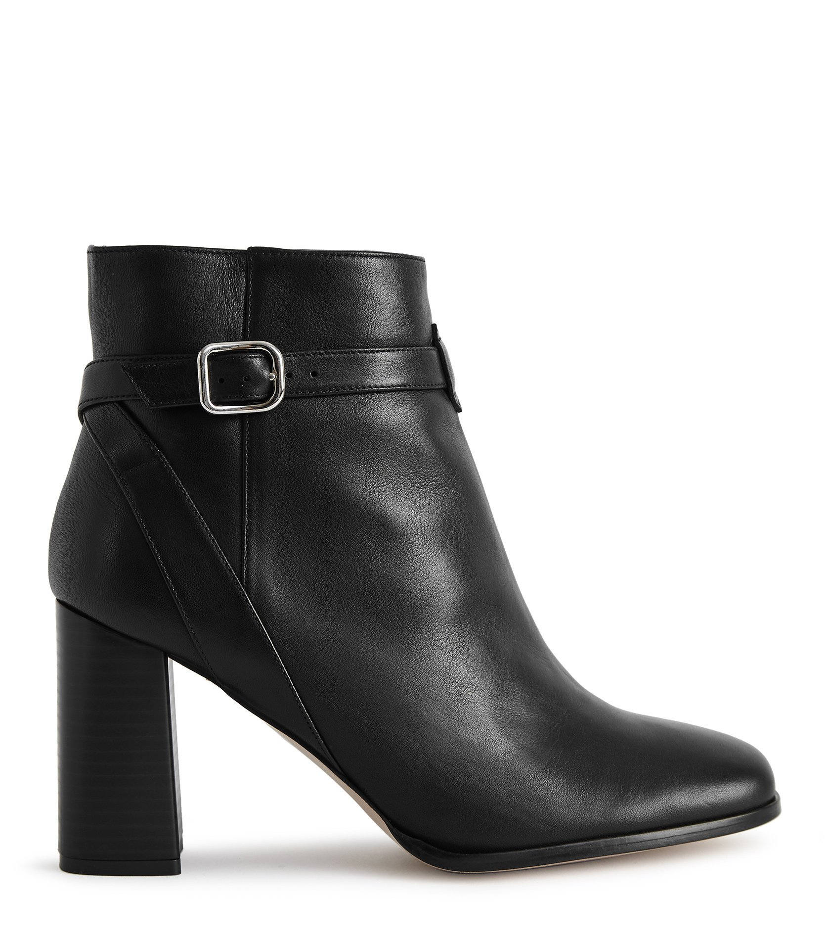 Fulham - Leather Ankle Boots Black $130