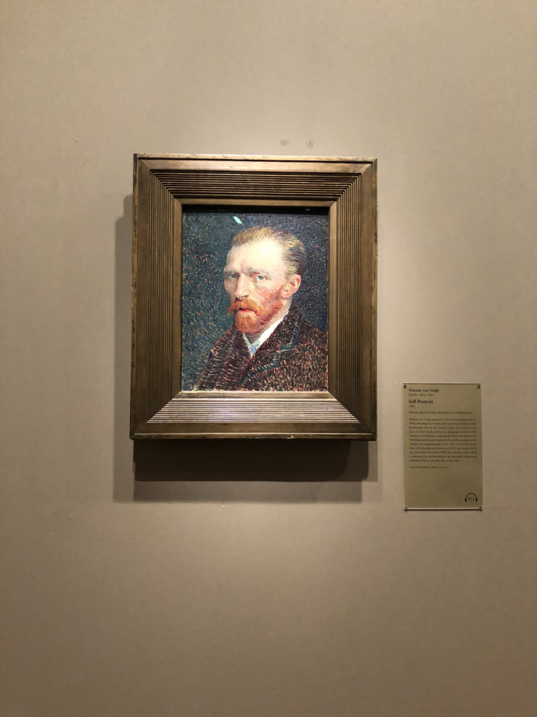 Van Gogh's Self Portrait at the Art Institute of Chicago