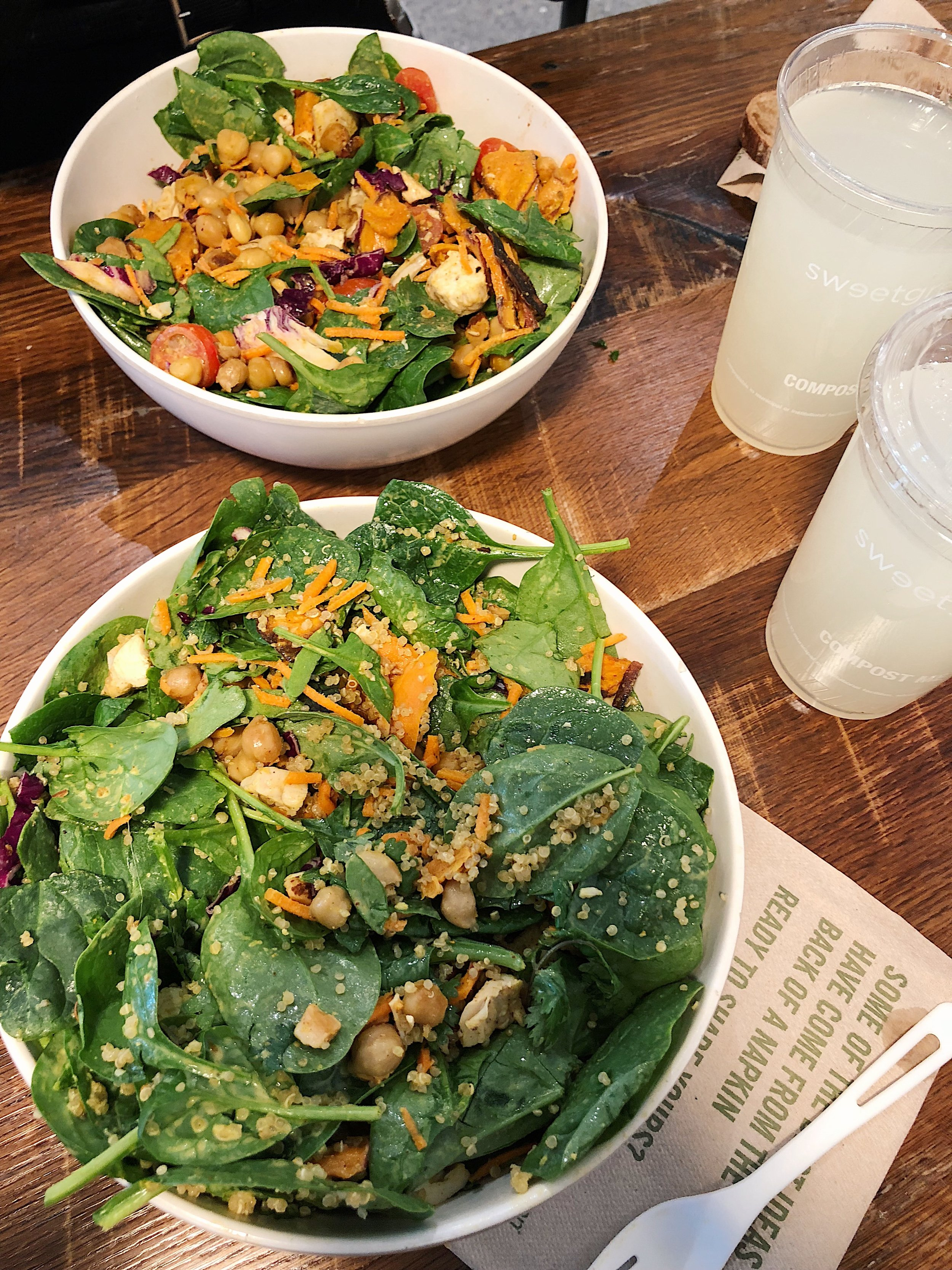 Curry Chickpea Bowls en Sweetgreen