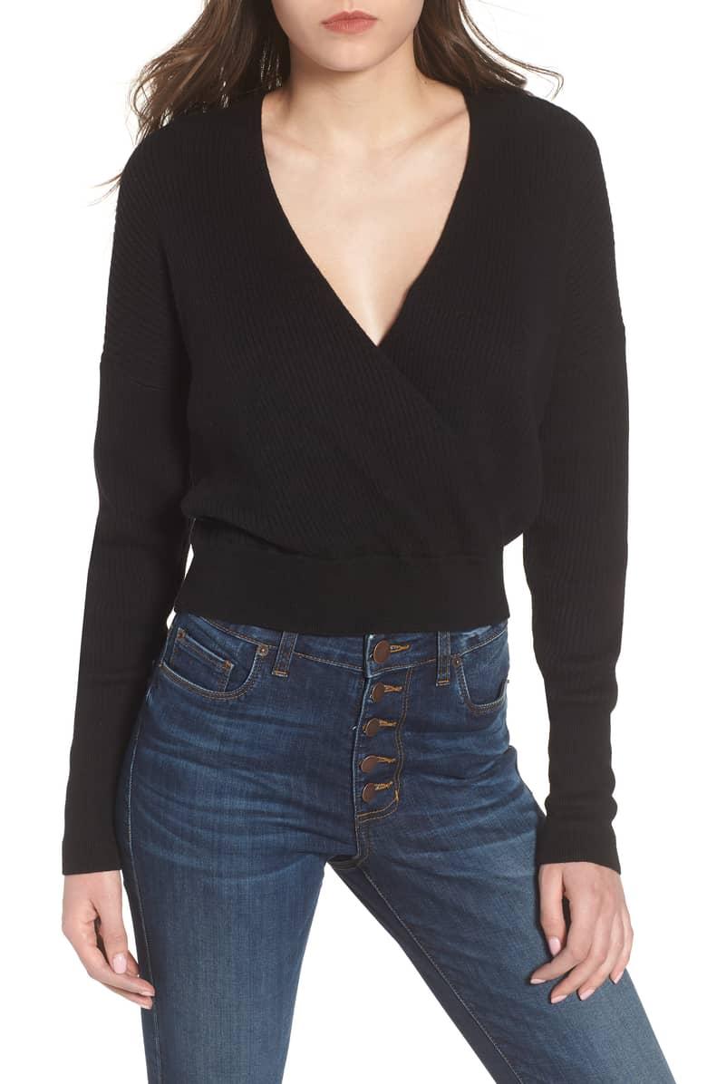 Leith - Rib Wrap Sweater $59.00
