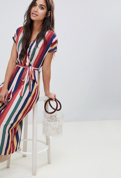 New Look - Petite Stripe Button Jumpsuit $45.00