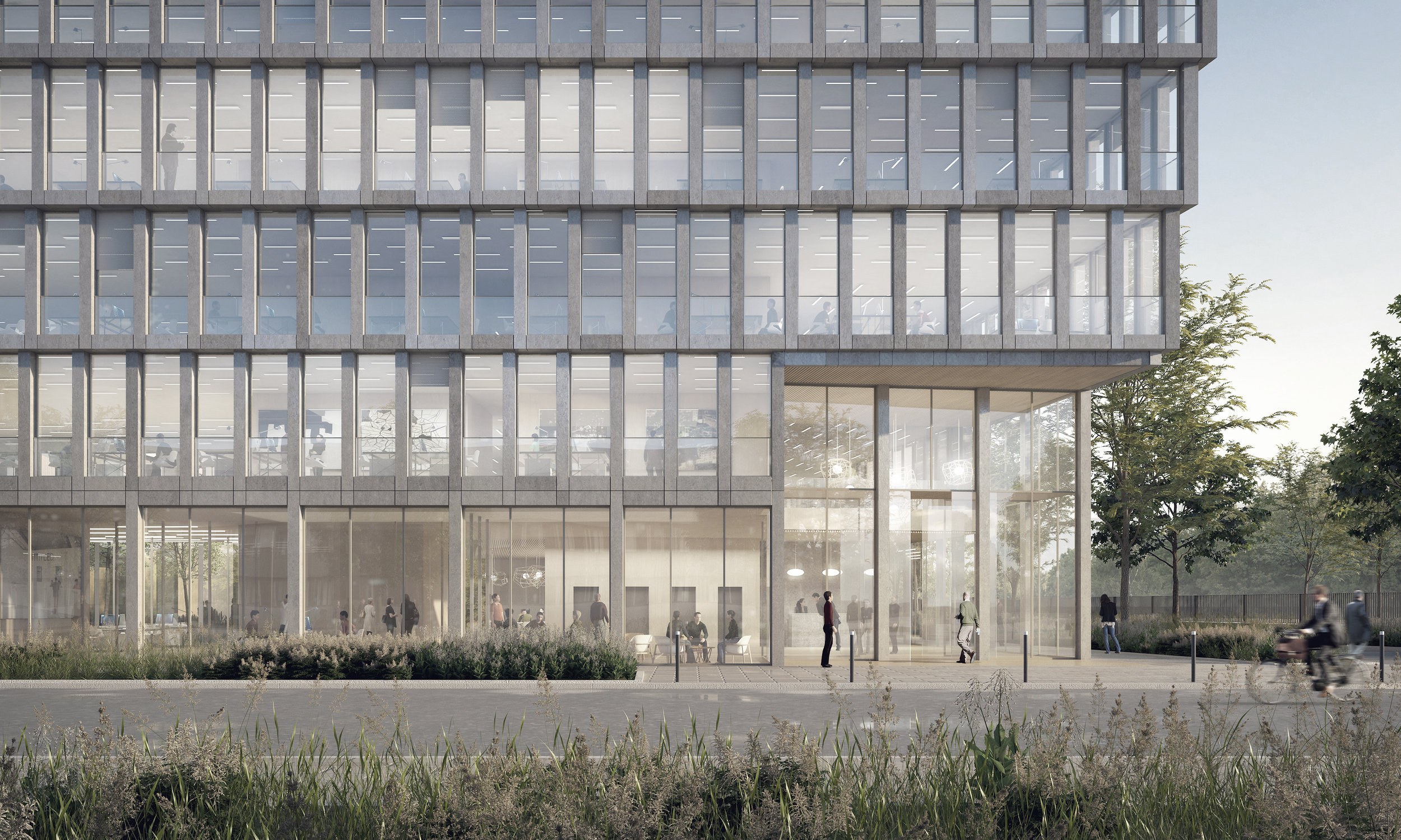 Bureaux lot D4A1Zac des Docks  Saint-Ouen - programme: construction d'un immeuble de bureaux (7360m² SDP)maîtrise d'ouvrage: QNB capital, AMO CBREmaîtrise d'oeuvre: Hardel & LeBihan (mandataire), palast (architecte cotraitant)mission : mission de basebudget : 12 millions d'euroslieu : LOT D4A1 _ ZAC DES DOCKS DE ST OUENdate : concours restreint de maitrise d'oeuvre_ juillet 2017crédit perspectives : La Banq