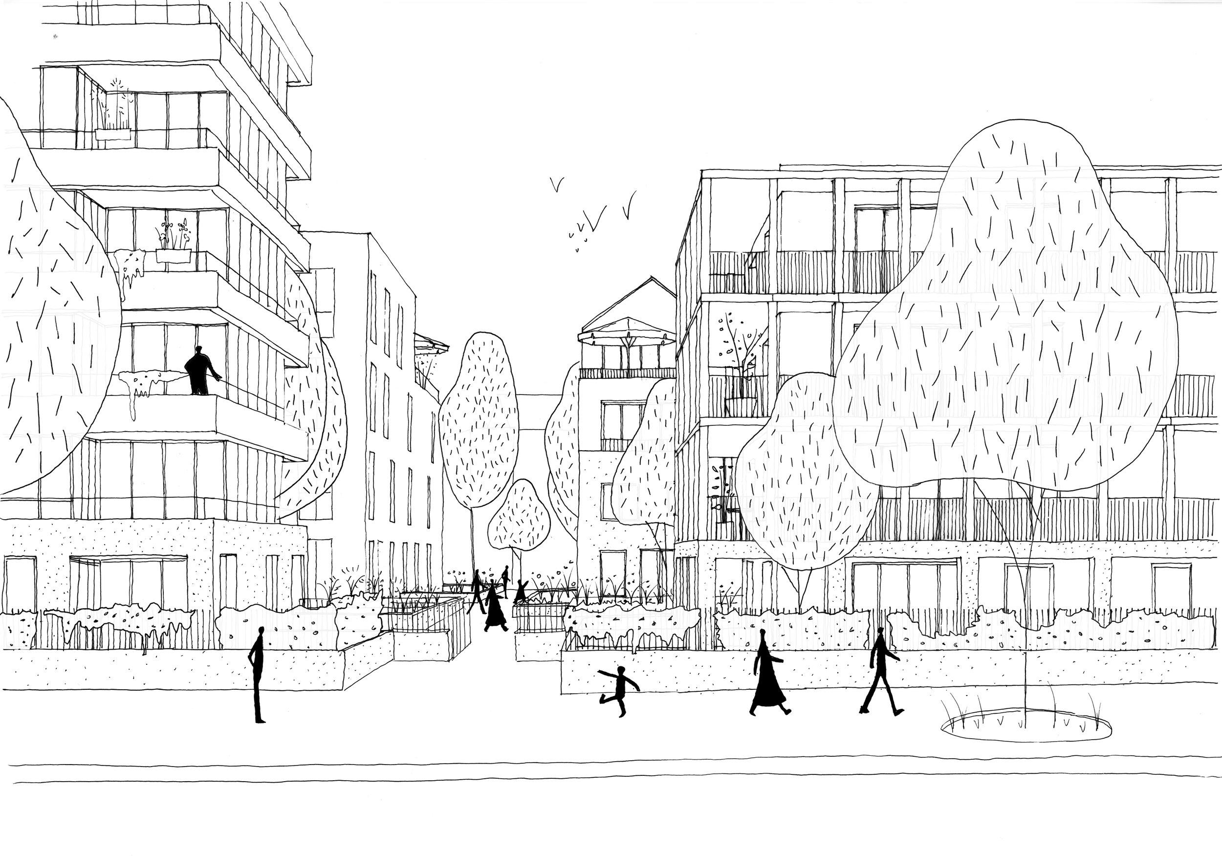 Ilot Millerand-Bagan,Ile de Nantes - programme: Construction de 138 logements + 1600m² (SDP) de bureaux + 160m² (SDP) d'équipementmaîtrise d'ouvrage: ARCPROMOTIONmaîtrise d'oeuvre: palast + Echelle Office, Ouest Structures (structure), Isocrate (fluides),Polytec (économiste, DET, OPC), Reflex (acoustique), La boîte à paysage (paysage)mission : concours restreintbudget : 15 millions d'euroslieu : 13 boulevard Alexandre Millerand à Nantes - Ilot Millerand/Bagandate : Avril 2018