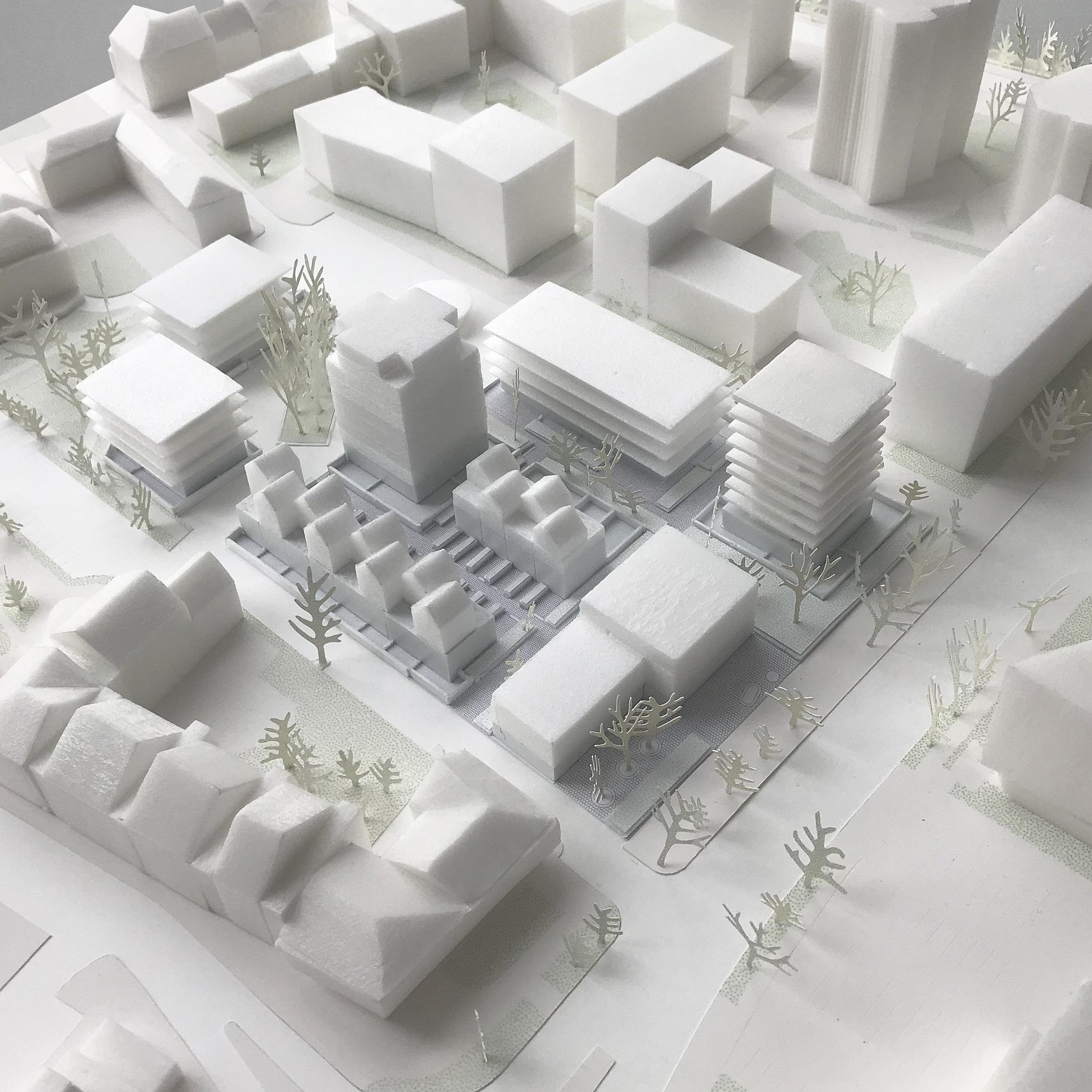 Concours, 150 logements, Iles de Nantes - Des images du concours pour la transformation de l'ïlot Bagan sur l'île de Nantes en 150 logements + bureaux pour ARC Promotion, réalisé en co-conception avec l'agence Echelle Office.