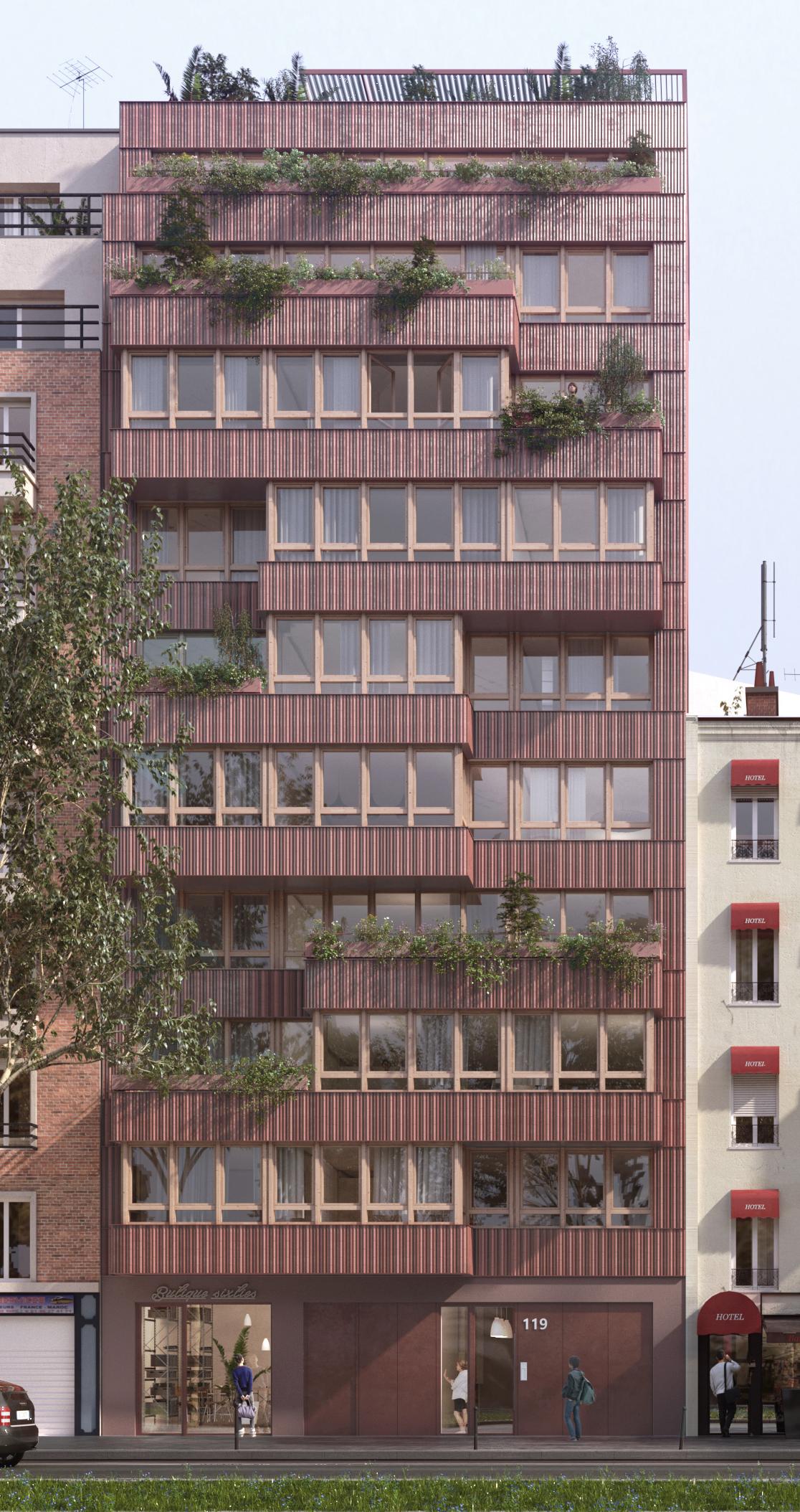 Démolition en cours, 16 logements, Paris 17 - Avancement du projet de 16 logements sociaux et d'un jardin partagé sur les toits Boulevard Bessières Paris 17 pour Pierres & Lumières