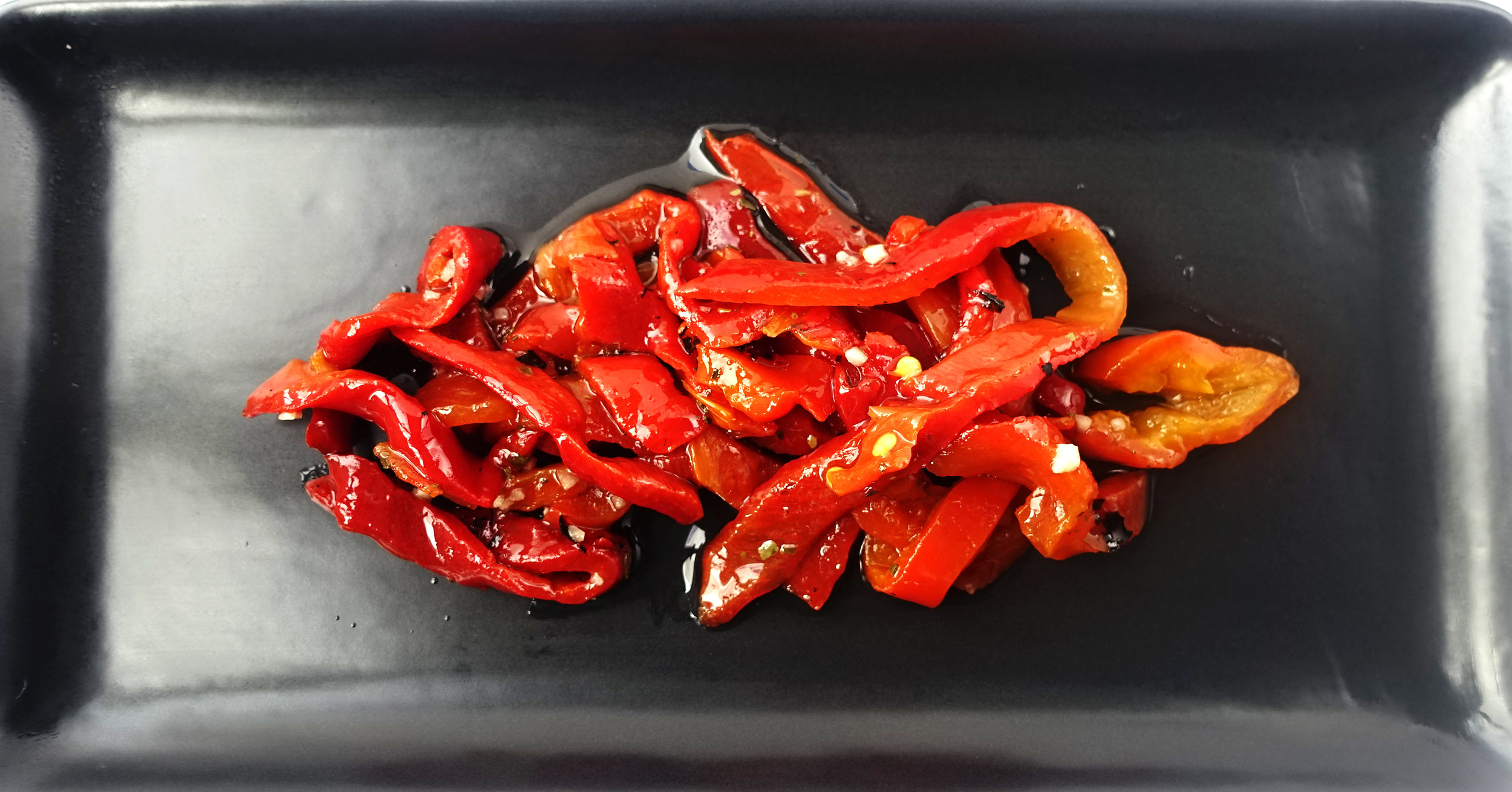 Grilled Red Pepper Strips