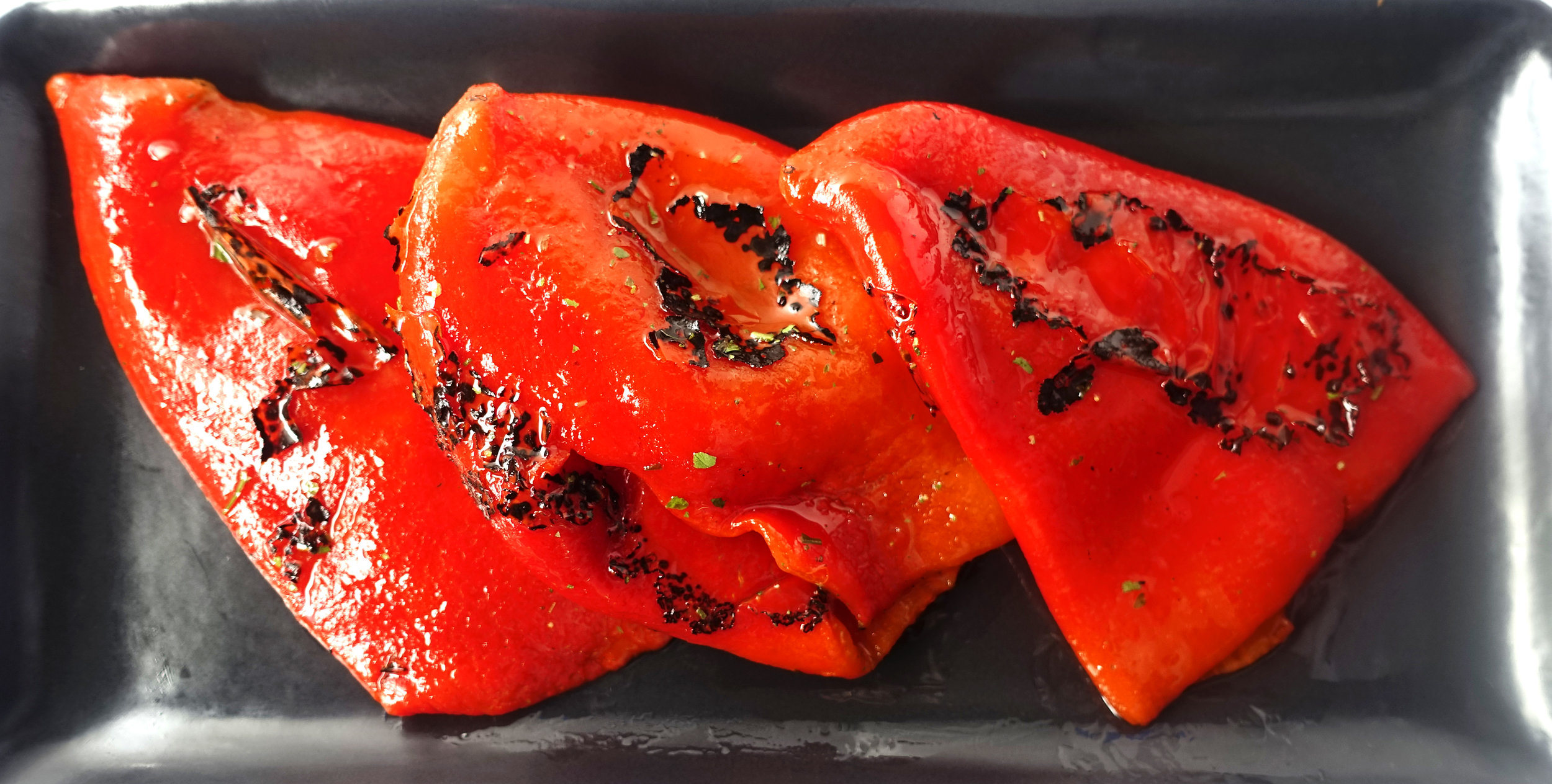 Grilled Red Peppers Whole