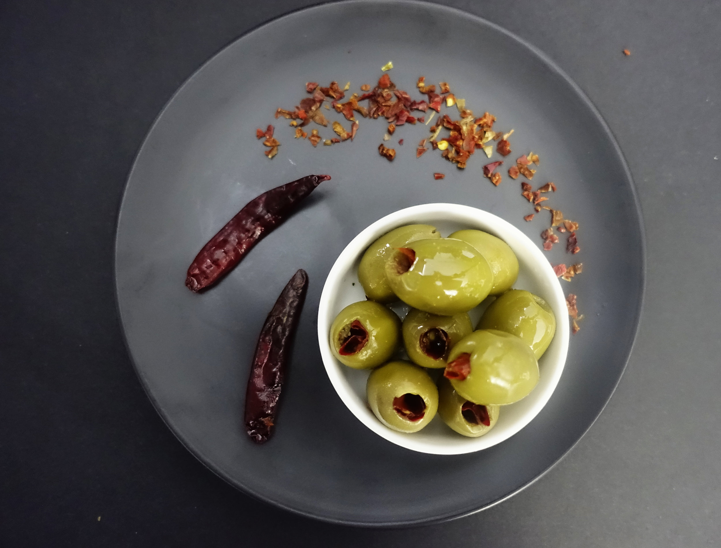 Green Olives Filled with Hot Chilli