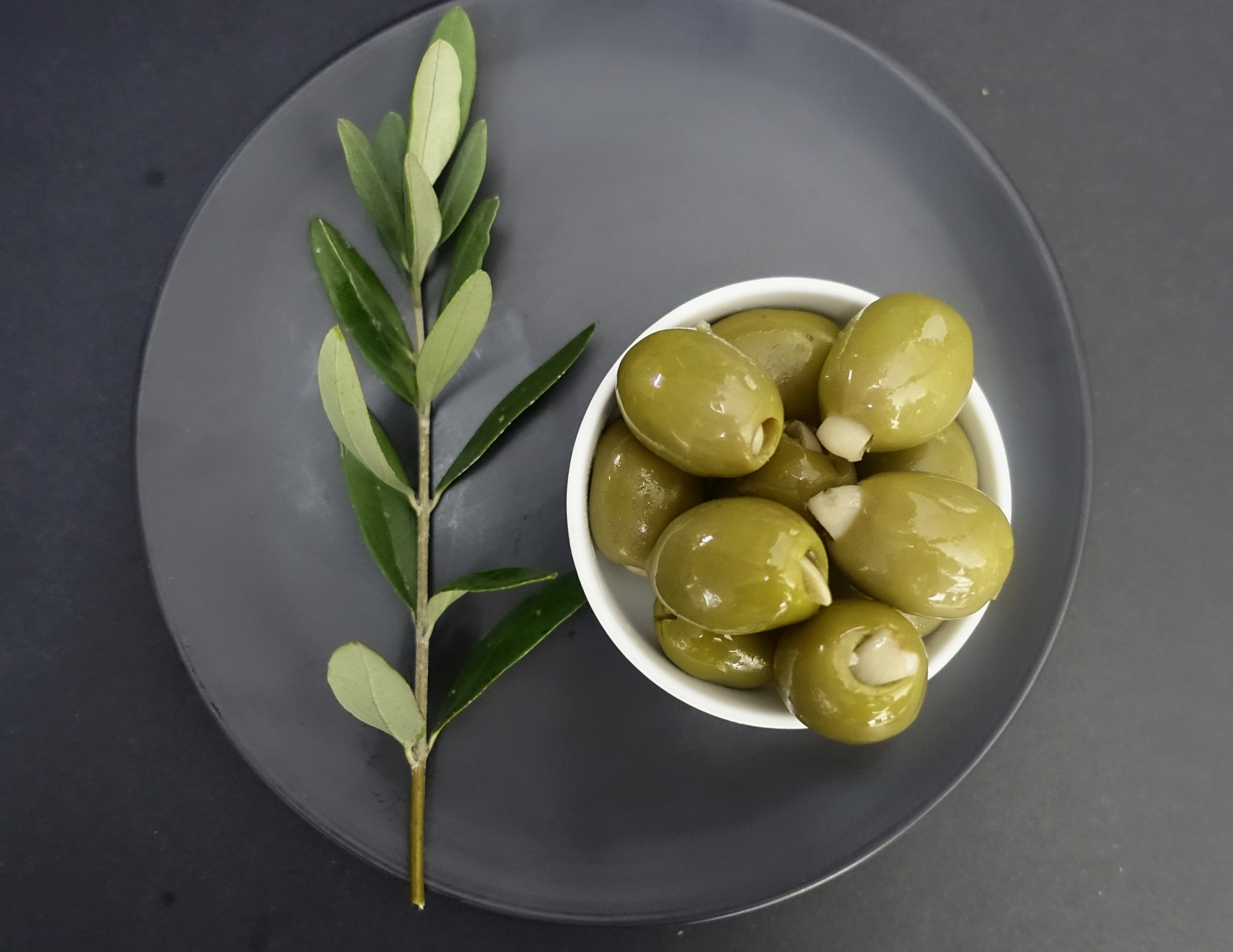 Green Olives Filled with Garlic