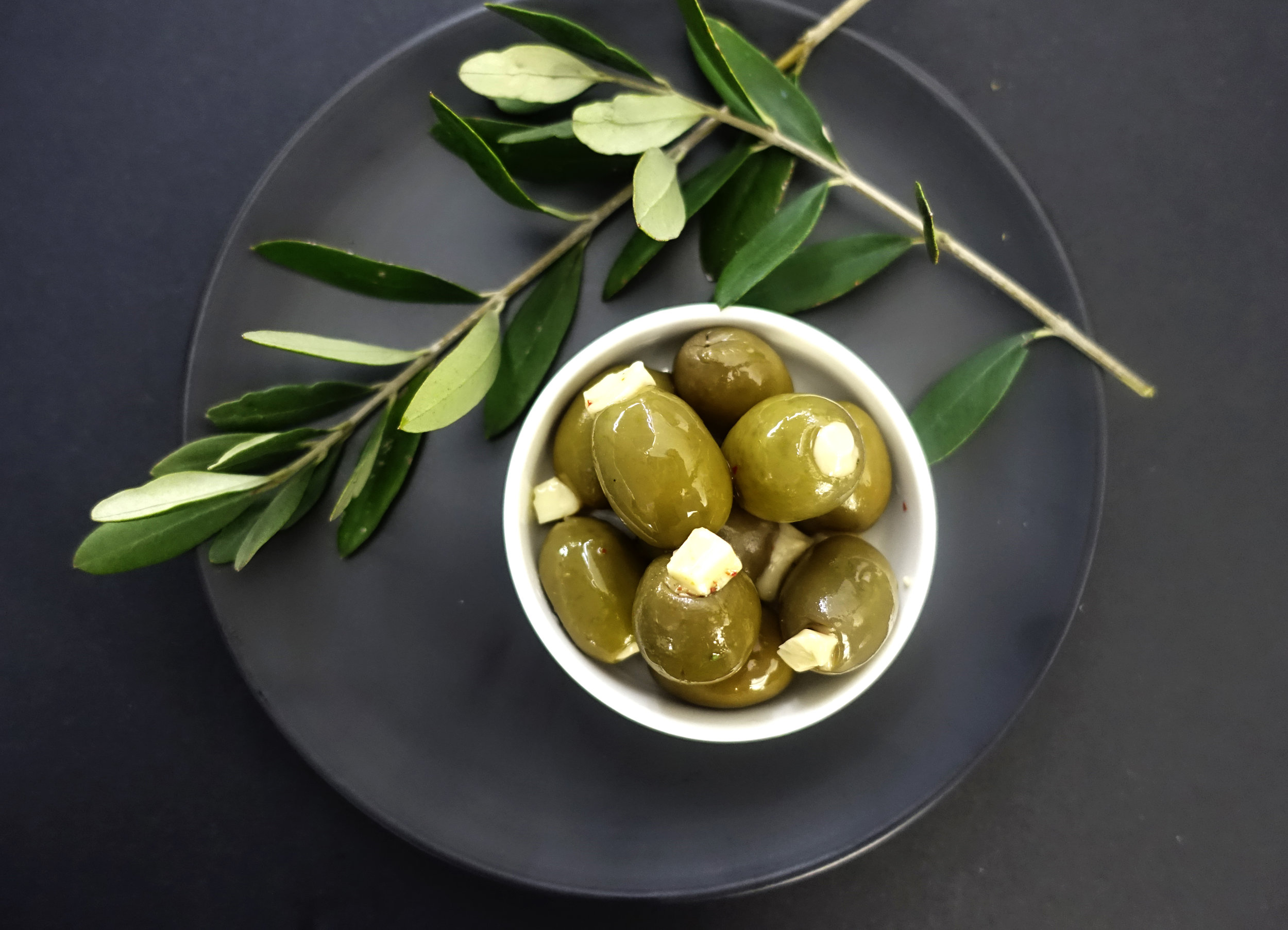 Green Olives Filled with Parmesan Cheese