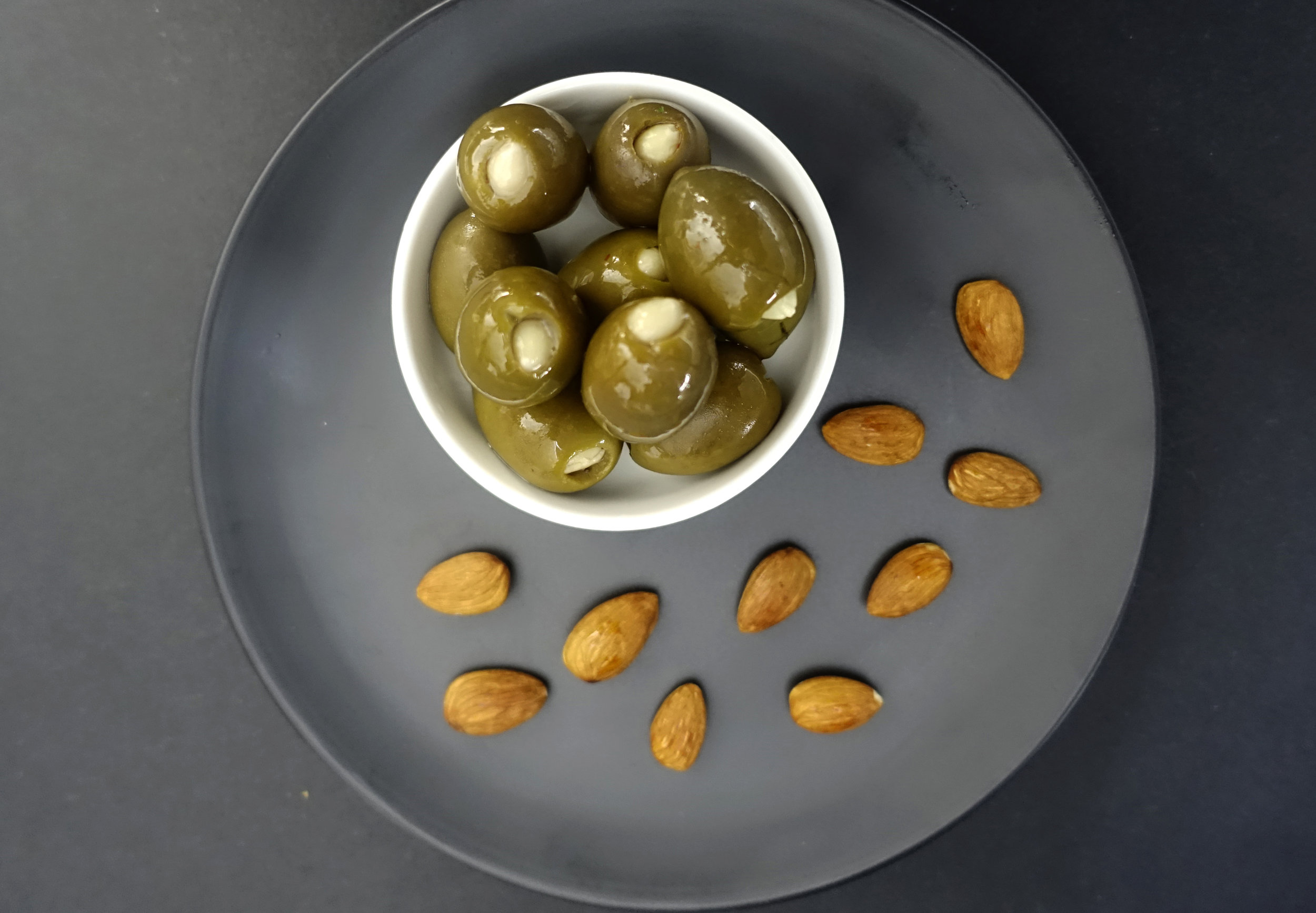 Green Olives Filled with Almond