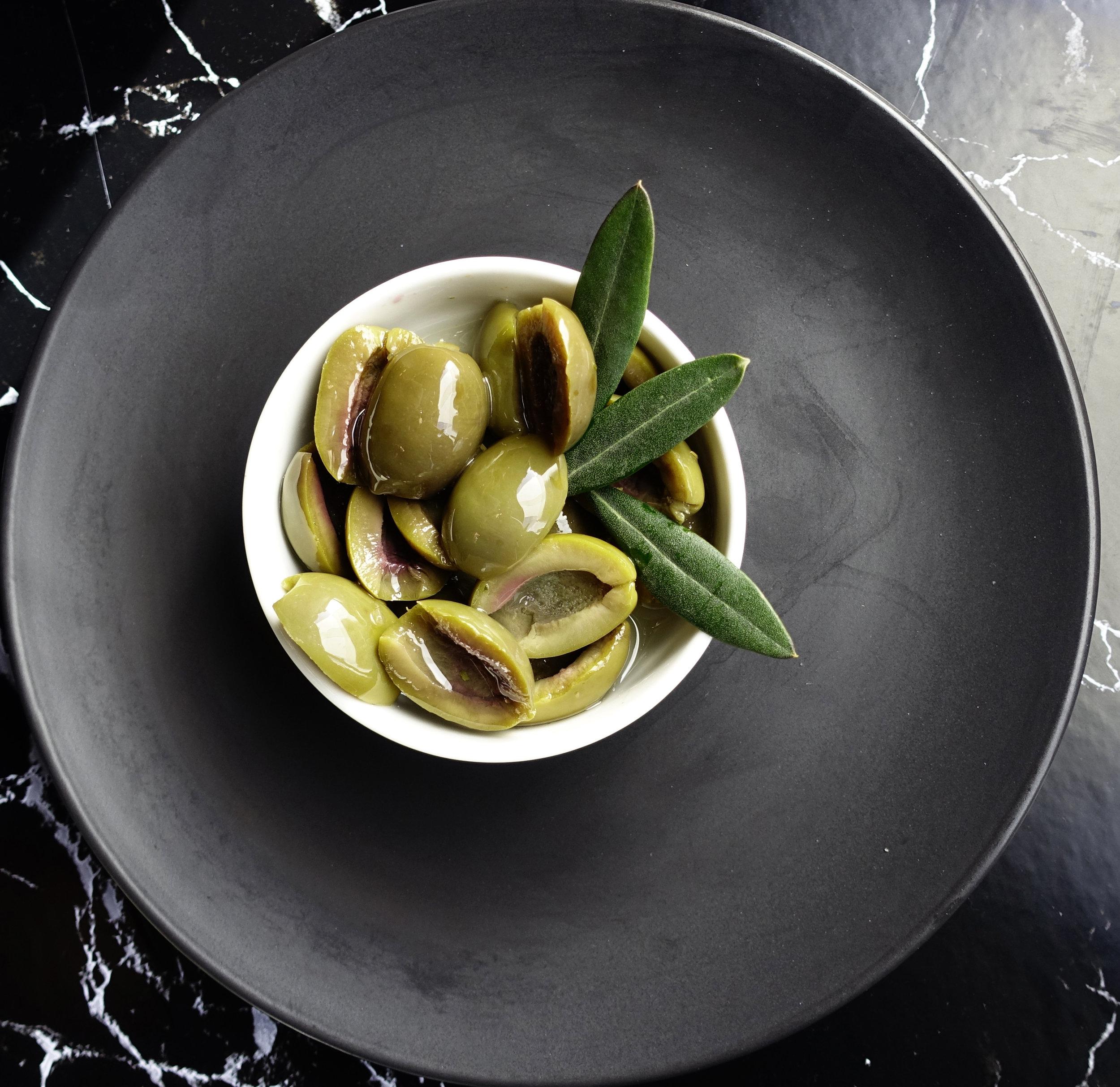 Green Split Olives