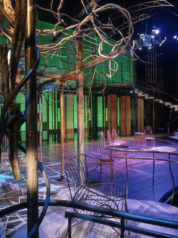 """Regina, 2005, Blitzstein's """"Regina"""" Theater Production, Bard College, Richard B. Fischer Center, Judy Pfaff, Set Designer."""