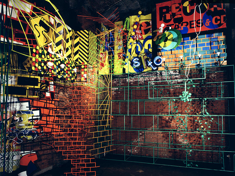11211, 1987, Creative Time, Brooklyn Bridge, NY
