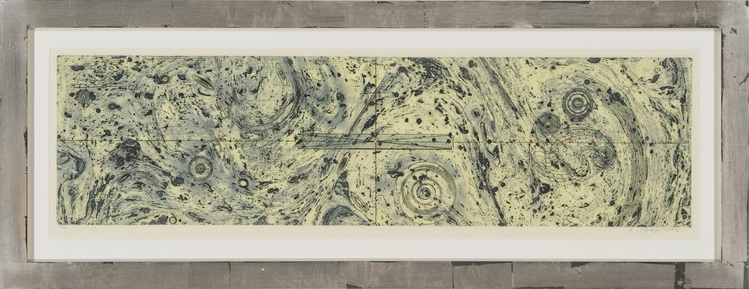 Untitled (marbleized), 2004