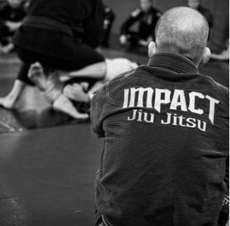 Impact Jiu Jitsu Owner and Founder, 4th degree blackBelt Michael Chapman at Impact Jiu Jitsu Headquarters in Beaverton, ORegon.