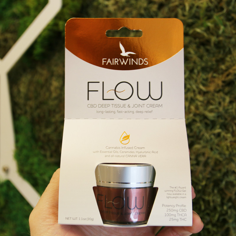 Fairwinds Flow Cream - With Fairwinds' unique canna vera full plant extract, Flow Cream provides benefits from every part of the cannabis plant. The combination of canna vera, hyaluronic acid, and a unique blend of herbs and oil provide strong, fast acting relief.