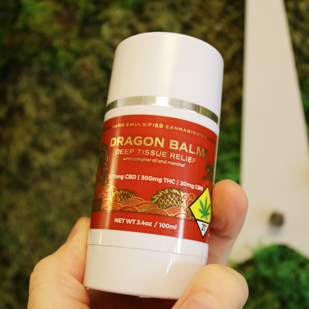 Ceres Dragon Balm Roll-On - The invigorating balm from Ceres is great for massaging deep for relief after a long day of work, or for before or after going to the gym. An equal ratio of CBD to THC means it's strong enough to help with joint, muscle, or nerve pain.